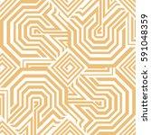 islamic style seamless vector... | Shutterstock .eps vector #591048359