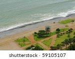 beach resort in miraflores ... | Shutterstock . vector #59105107