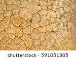 cracked dry brown soil... | Shutterstock . vector #591051305