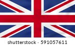 united kingdom waving flag. uk... | Shutterstock .eps vector #591057611