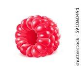 appetizing fresh raspberry... | Shutterstock .eps vector #591060491