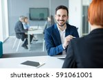 financial advisor. | Shutterstock . vector #591061001