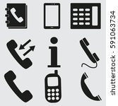 phone icons set | Shutterstock .eps vector #591063734