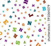 colorful letter pattern on... | Shutterstock .eps vector #591064379