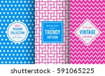 chic seamless pattern... | Shutterstock .eps vector #591065225