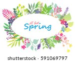 at last spring floral card... | Shutterstock .eps vector #591069797