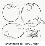 beautiful collection of oval... | Shutterstock .eps vector #59107054