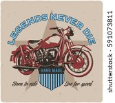 t shirt or poster design with... | Shutterstock . vector #591073811