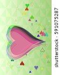 valentine design icon | Shutterstock .eps vector #591075287