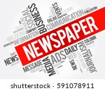 newspaper word cloud collage ... | Shutterstock .eps vector #591078911