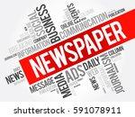 newspaper word cloud collage ... | Shutterstock .eps vector #591078911