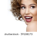 beautiful woman face. perfect... | Shutterstock . vector #59108173