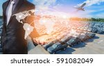 global network coverage world... | Shutterstock . vector #591082049