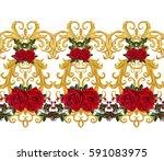 seamless pattern. golden...   Shutterstock . vector #591083975