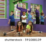 dance teacher and children in...   Shutterstock . vector #591088139