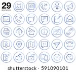 29 glowing web icons set  ... | Shutterstock . vector #591090101
