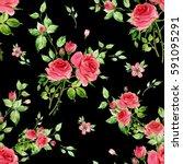 seamless watercolor pattern... | Shutterstock . vector #591095291