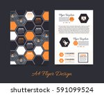 front and back corporate... | Shutterstock .eps vector #591099524