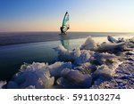 do sports on a icy water... | Shutterstock . vector #591103274