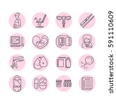 vector gynecology symbols icon... | Shutterstock .eps vector #591110609