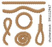 abstract rope elements set....   Shutterstock .eps vector #591112967