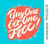 buy one get one free  vector... | Shutterstock .eps vector #591116129
