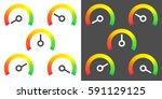 meter signs infographic gauge... | Shutterstock .eps vector #591129125