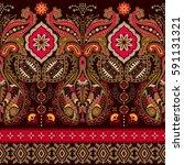 indian seamless pattern.... | Shutterstock . vector #591131321
