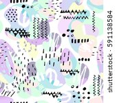 vector seamless pattern with...   Shutterstock .eps vector #591138584