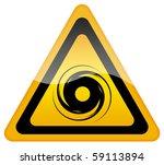 hurricane warning sign   Shutterstock . vector #59113894