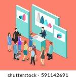 isometric flat 3d concept... | Shutterstock .eps vector #591142691