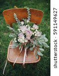 wedding bouquet of flowers and... | Shutterstock . vector #591149627