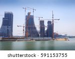 the site of the high rise... | Shutterstock . vector #591153755