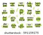 bio  eco  organic logos set....