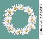 beautiful summer wreath of... | Shutterstock .eps vector #591166049