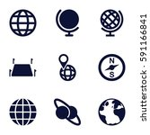 geography icons set. set of 9... | Shutterstock .eps vector #591166841