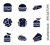lettuce icons set. set of 9... | Shutterstock .eps vector #591167195