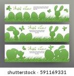set of postcard or banner for... | Shutterstock .eps vector #591169331