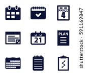agenda icons set. set of 9... | Shutterstock .eps vector #591169847