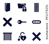 close icons set. set of 9 close ...   Shutterstock .eps vector #591174251
