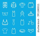clothes icons set. set of 16... | Shutterstock .eps vector #591180311