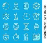 clock icons set. set of 16... | Shutterstock .eps vector #591182201