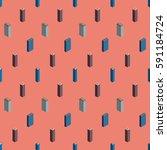 city seamless pattern.... | Shutterstock .eps vector #591184724