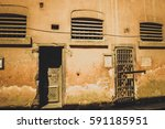 Two Doors Of Old Prison At...