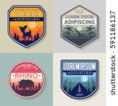 badges set background | Shutterstock .eps vector #591186137