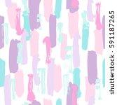 pastel color paint brush... | Shutterstock .eps vector #591187265