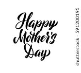 happy mother's day greeting... | Shutterstock .eps vector #591200195