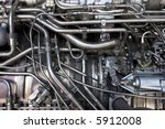 Engine Of Military Jet.