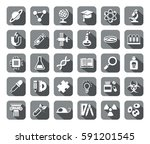 science  icons  grey  flat ... | Shutterstock .eps vector #591201545