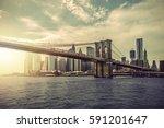 Manhattan Skyline With Brooklyn ...
